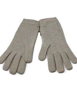 Loro Piana Neutral Beige Cashmere Gloves