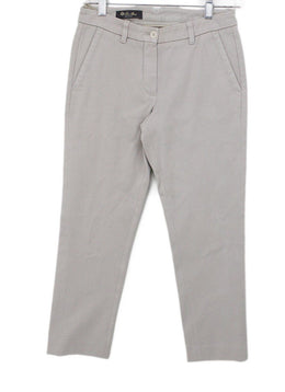 Loro Piana Neutral Beige Cotton Pants