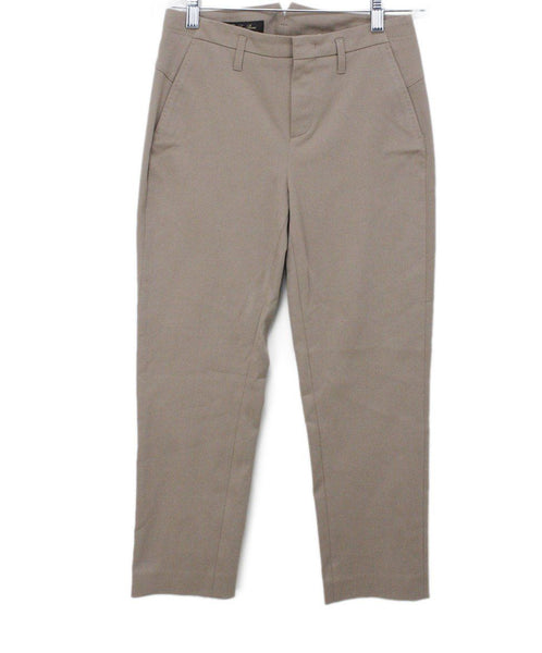 Loro Piana Neutral Tan Cotton Pants