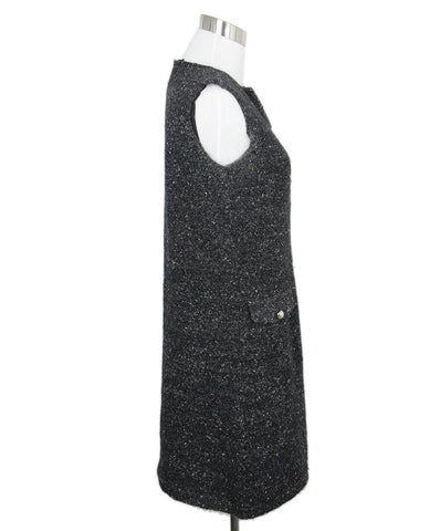 Louis Vuitton Black Brown Tweed Dress 1