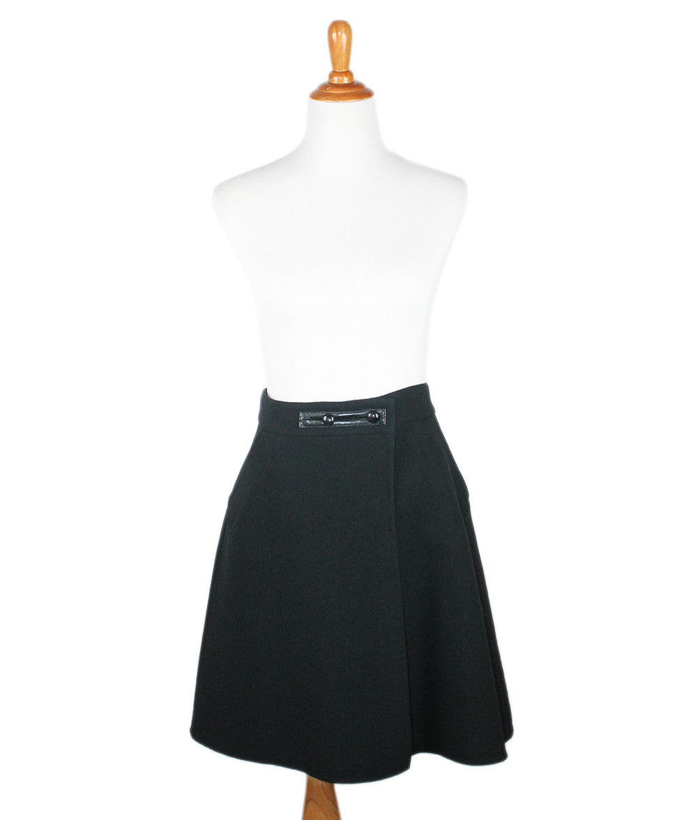 Louis Vuitton  Black Cashmere Polyamide Skirt Sz 44 - Michael's Consignment NYC  - 1
