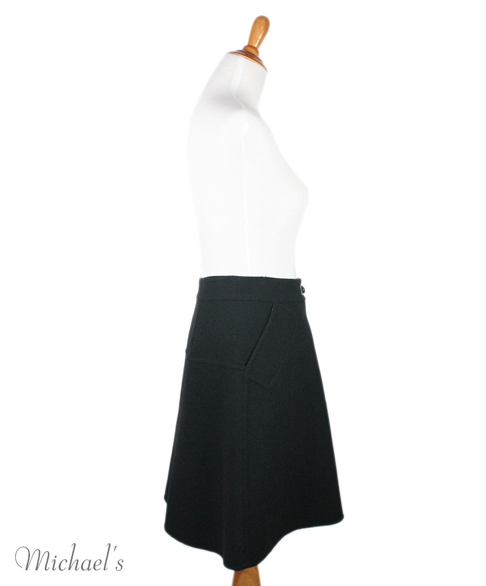 Louis Vuitton  Black Cashmere Polyamide Skirt Sz 44 - Michael's Consignment NYC  - 2