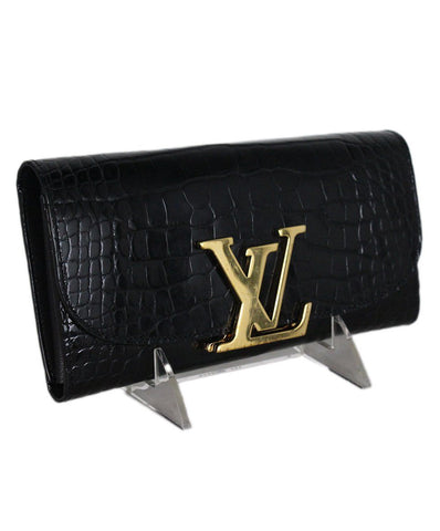 Louis Vuitton Black Crocodile Wallet 1