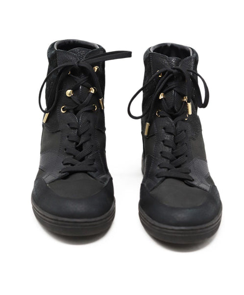 Louis Vuitton Black Leather Monogram Sneakers 2