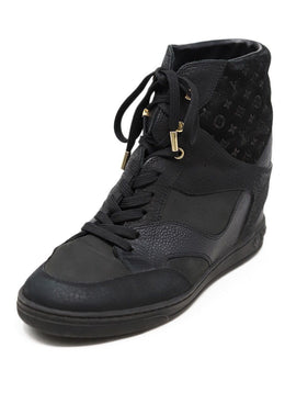 Louis Vuitton Black Leather Monogram Sneakers