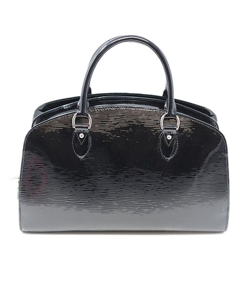 Louis Vuitton Black Patent Epi Leather Handbag 2