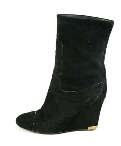 Louis Vuitton Black Suede Boots 1