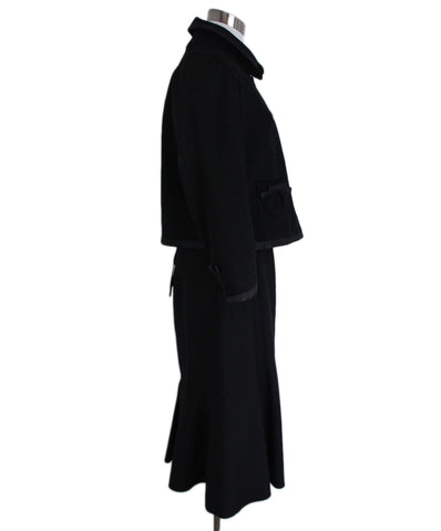 Louis Vuitton Black Wool Skirt Suit 1