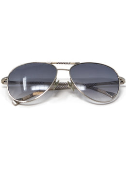 Louis Vuitton White and Black Damier Leather Sunglasses 1