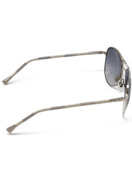 Louis Vuitton White and Black Damier Leather Sunglasses 2