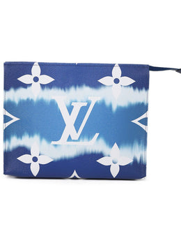 Louis Vuitton Blue White Monogram Escale 26 Toiltery Bag