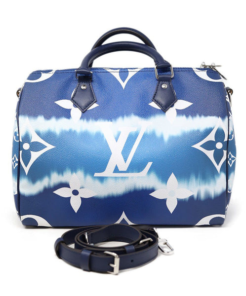 Louis Vuitton Escale Speedy Bandouliere 30 Blue and white 4