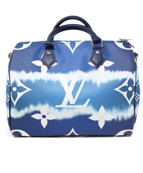 Louis Vuitton Escale Speedy Bandouliere 30 Blue and white 3