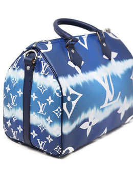 Louis Vuitton Escale Speedy Bandouliere 30 Blue and white 2