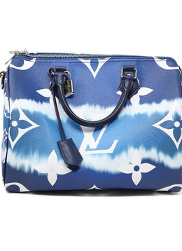 Louis Vuitton Escale Speedy Bandouliere 30 Blue and white 1