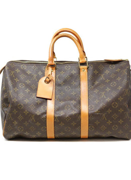 Louis Vuitton Brown Canvas Monogram Keepall 45