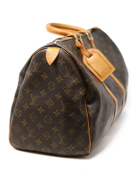 Louis Vuitton Brown Canvas Monogram Keepall 45 1
