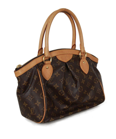 Louis Vuitton Brown Canvas Satchel 1