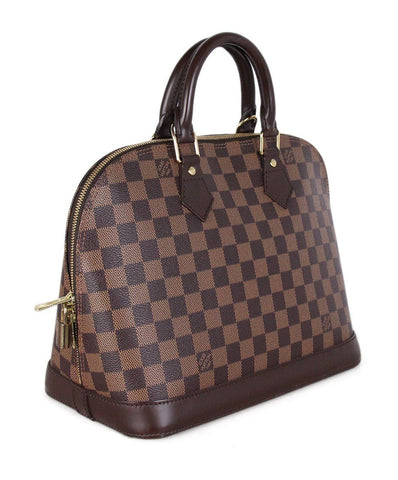 Louis Vuitton Brown Damier Check Canvas Satchel 1
