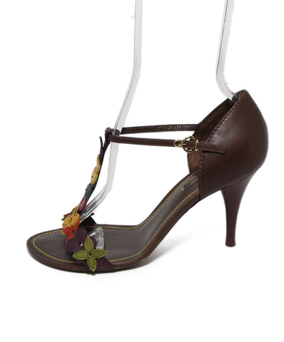 Louis Vuitton Brown Leather Multi Sandals 1