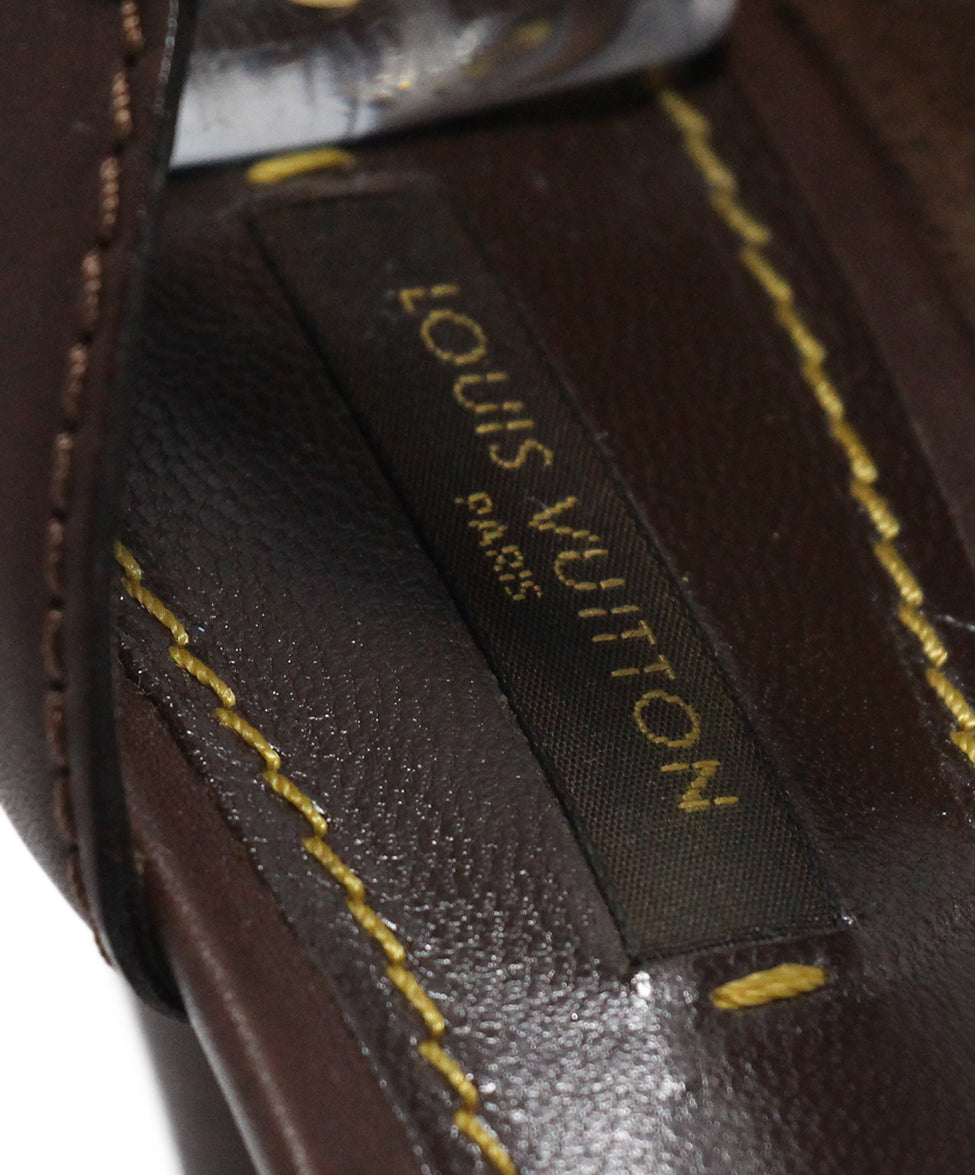 Louis Vuitton Brown Leather Multi Sandals 7