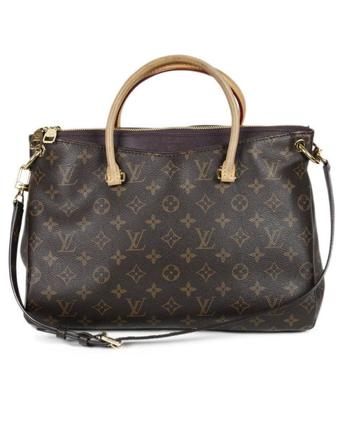 Louis Vuitton Brown Tan Monogram Canvas Handbag