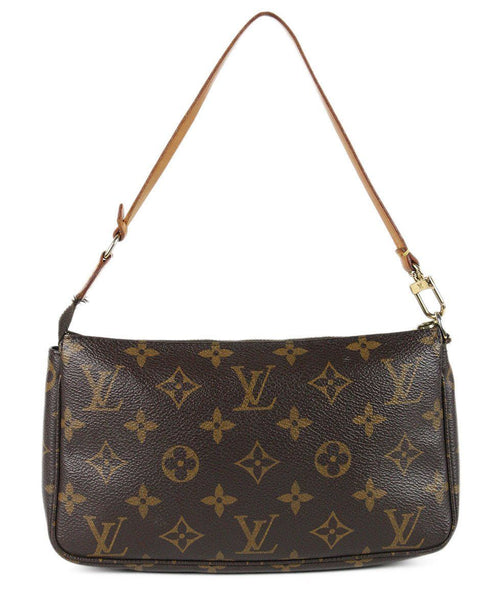Louis Vuitton Brown Monogram Canvas Leather Trim Handbag