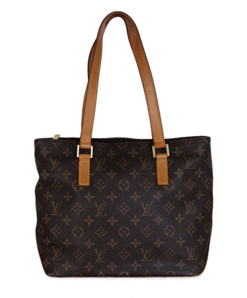 Louis Vuitton Brown Monogram Canvas Leather Tote 1
