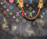 Louis Vuitton Brown Painted Monogram Speedy 40 Rocky Mazzilli London 9