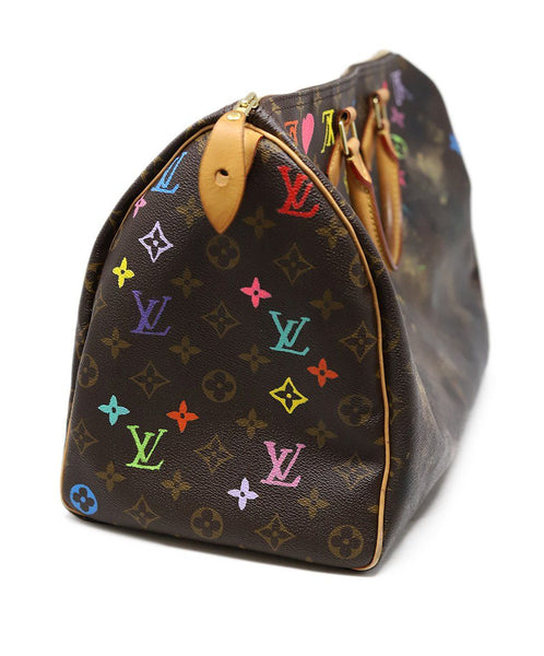 Louis Vuitton Brown Painted Monogram Speedy 40 Rocky Mazzilli London 2