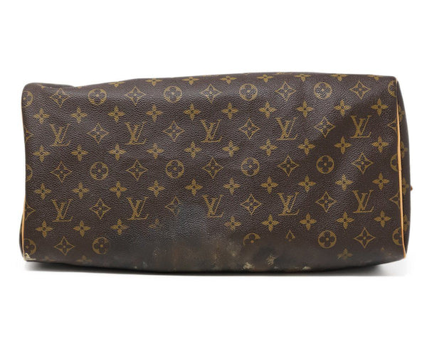 Louis Vuitton Brown Painted Monogram Speedy 40 Rocky Mazzilli London 4