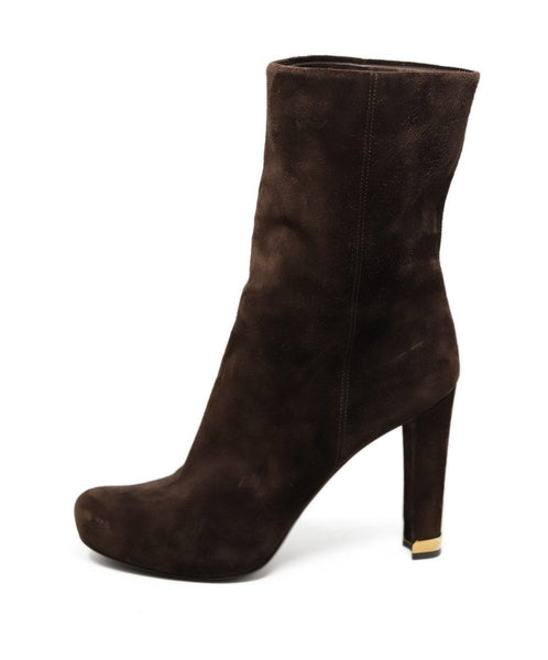 Louis Vuitton Brown Suede Boots 1