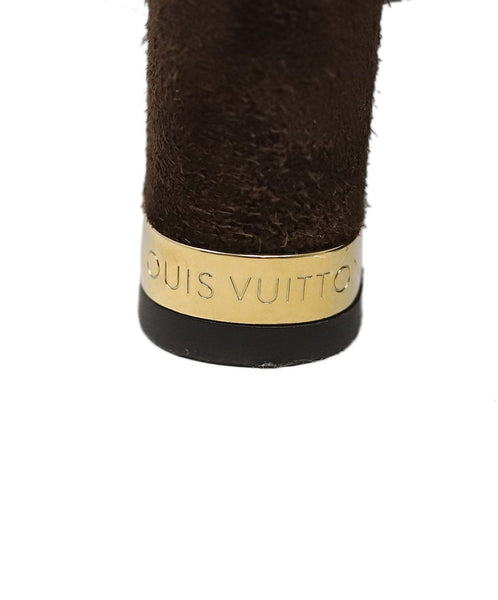 Louis Vuitton Brown Suede Boots 5
