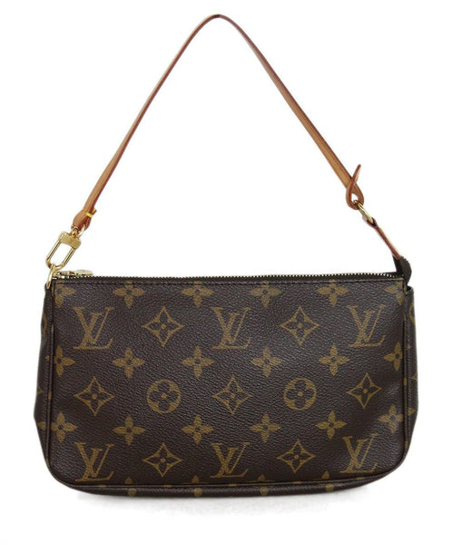 Louis Vuitton Brown Tan Monogram Clutch 1