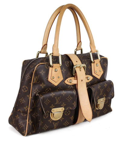 Louis Vuitton Brown Tan Monogram Tote 1