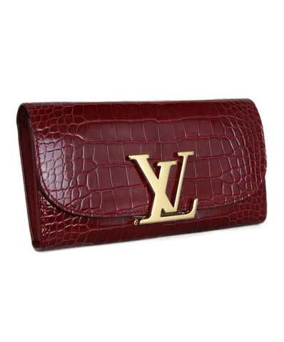 Louis Vuitton Capucines Red Crocodile Wallet 1