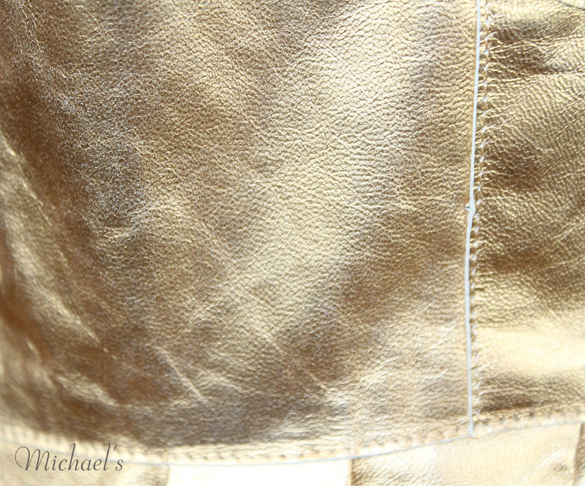 Louis Vuitton Gold Leather  Top Sz 42 - Michael's Consignment NYC  - 8