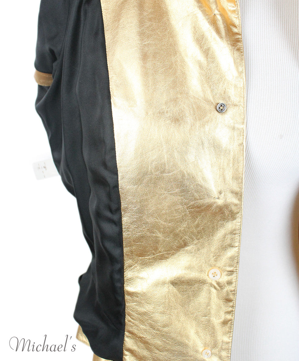 Louis Vuitton Gold Leather  Top Sz 42 - Michael's Consignment NYC  - 10