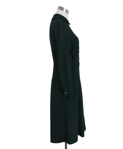 Louis Vuitton Green Black Trim Dress 1