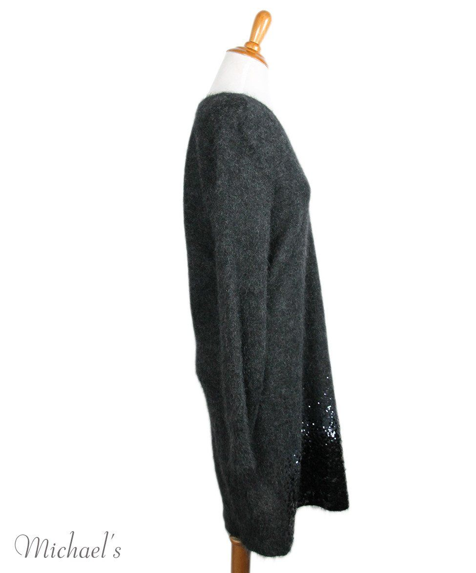 Louis Vuitton Charcoal Mohair Polyamide Sequins Dress Sz XL - Michael's Consignment NYC  - 2