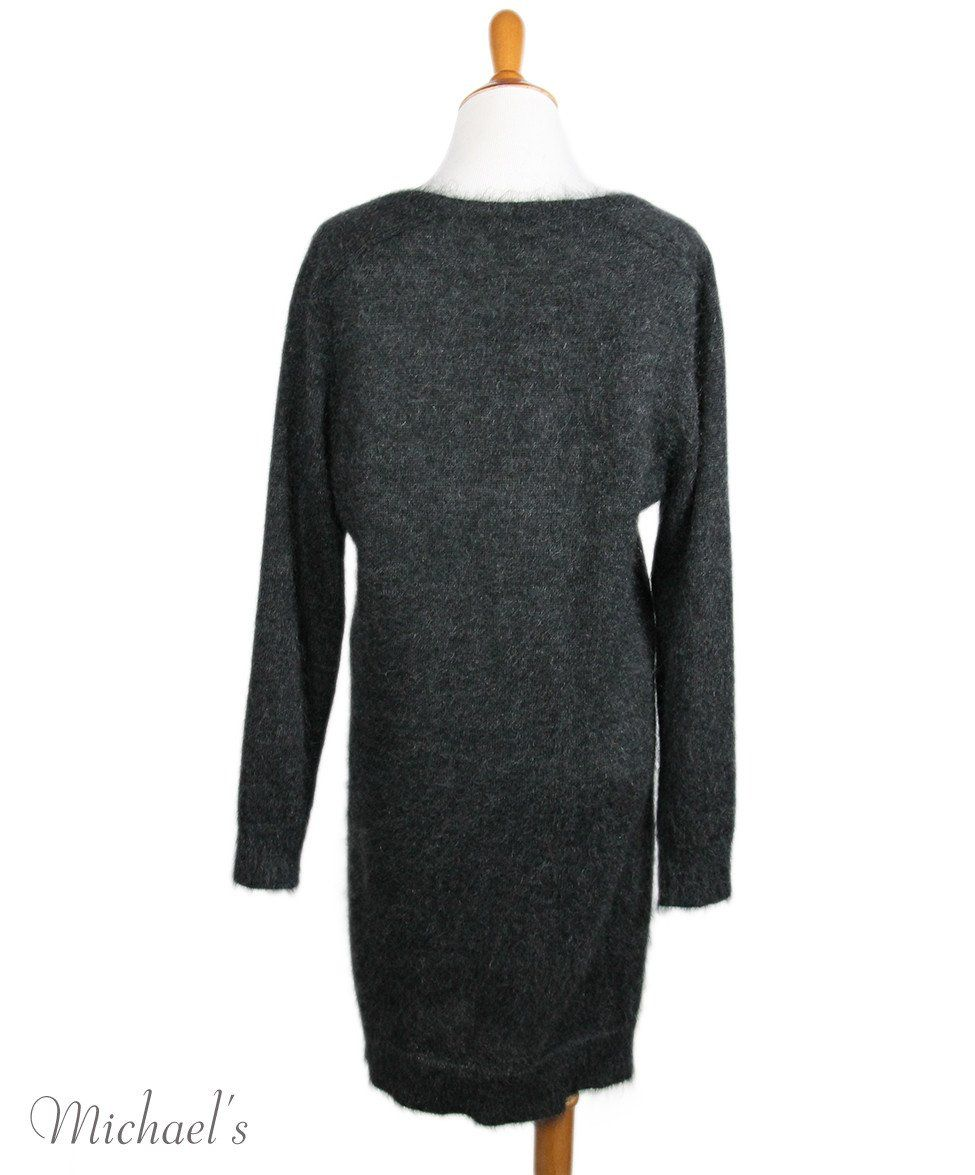 Louis Vuitton Charcoal Mohair Polyamide Sequins Dress Sz XL - Michael's Consignment NYC  - 3