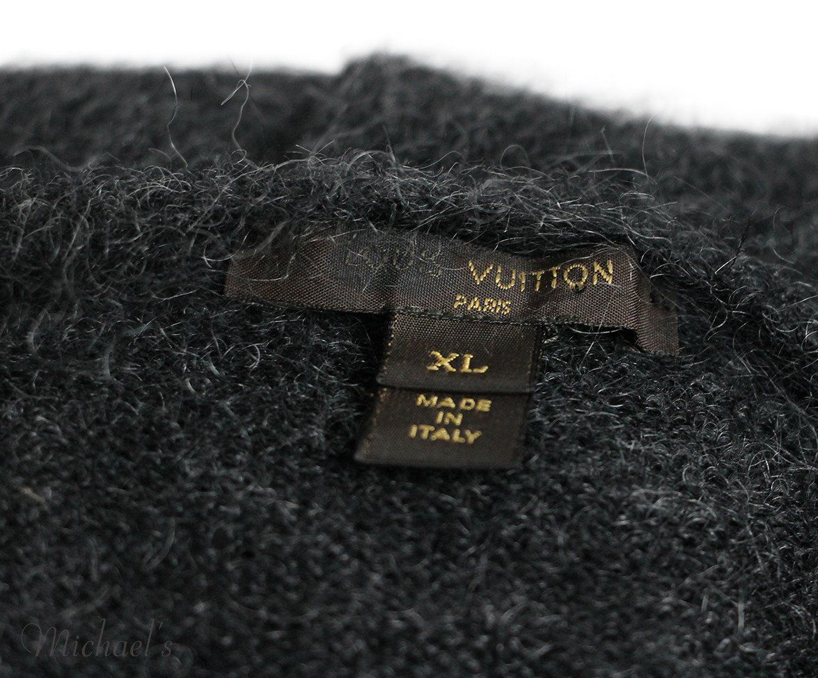 Louis Vuitton Charcoal Mohair Polyamide Sequins Dress Sz XL - Michael's Consignment NYC  - 5