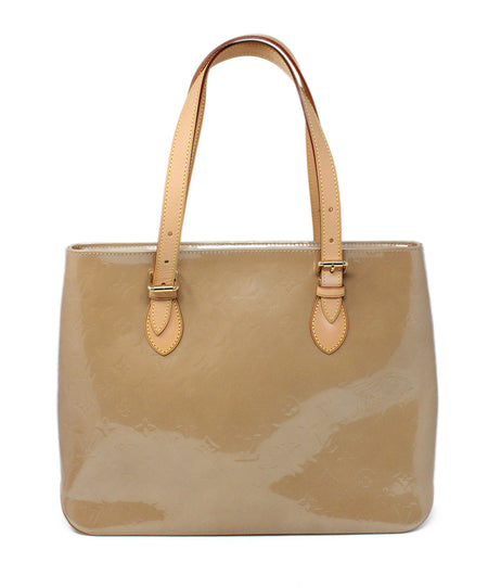 Loro Piana Brown Leather Cream Stitching Tote Handbag