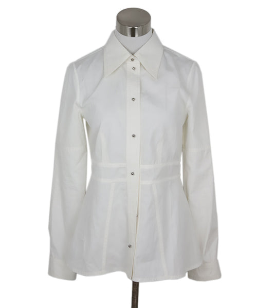 Louis Vuitton Ivory Cotton Top 1