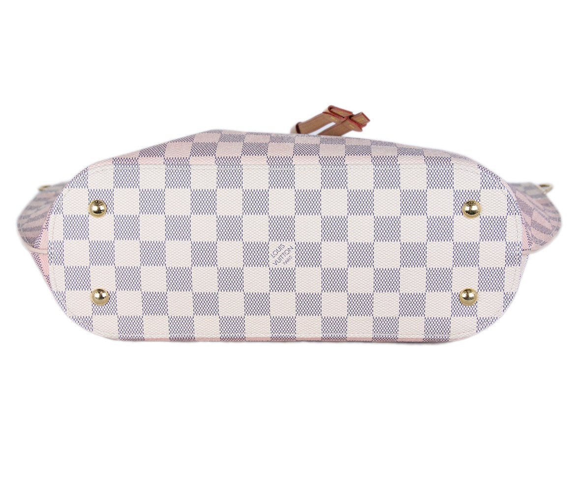 Louis Vuitton Ivory Pink Damier Leather Tote 4