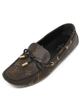 Louis Vuitton Brown Monogram Leather Loafers 1