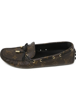 Louis Vuitton Brown Monogram Leather Loafers 2