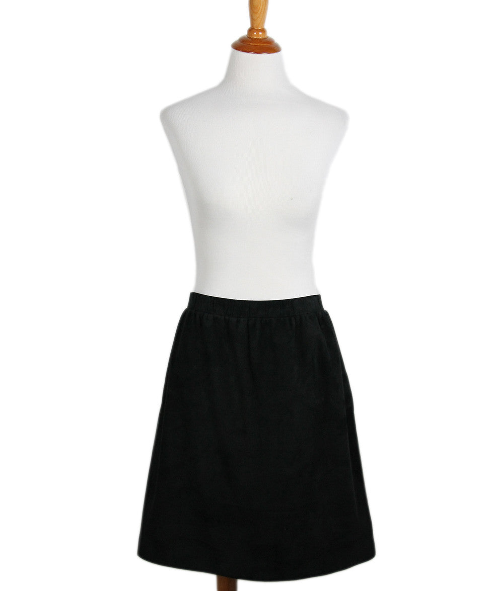 Louis Vuitton  Black Suede Leather Skirt Sz 42 - Michael's Consignment NYC  - 1