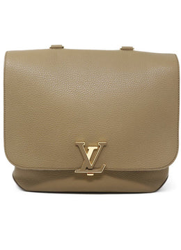 Louis Vuitton Taupe Leather Handbag