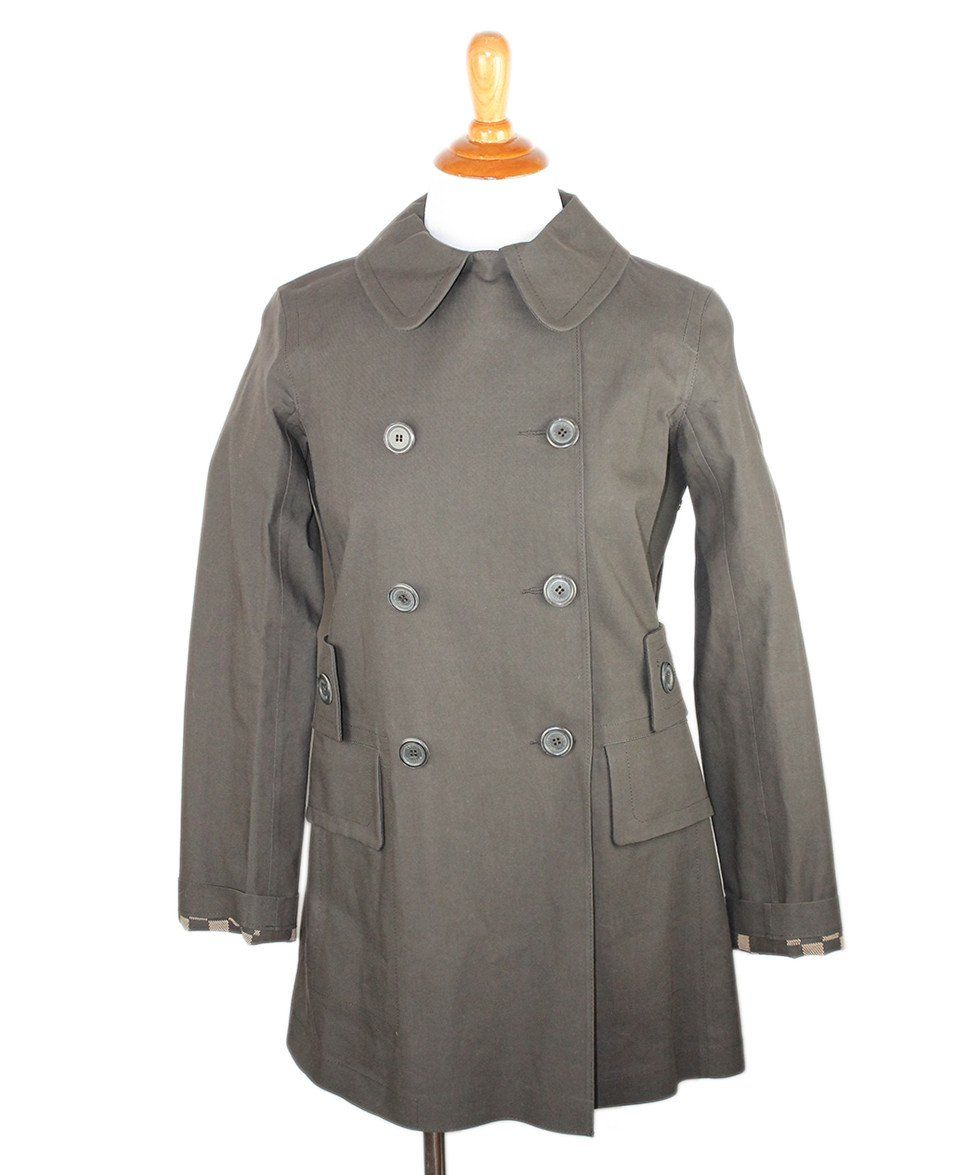 Louis Vuitton Green Olive Cotton Outerwear Sz 2 - Michael's Consignment NYC  - 1